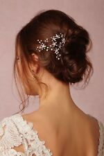 BHLDN Stargazer Twigs & Honey Bobby Pin Bridal Formal Swarovski Crystal Handmade