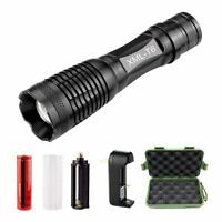 New Tactical 18650 Flashlight Ultrafire T6 High Powered 5Modes Zoomable Aluminum