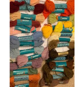 Vintage Tapestry Wool-EmbroideryNeedlepoint Bundle/ Joblot Various colours