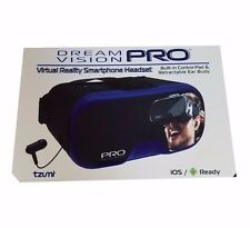 Dream Vision PRO Virtual Reality 3D Headset Built-in Control Pad, Mic & Ear Buds