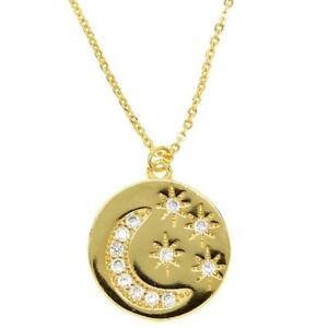 """Damen Kette mit Anhänger """"Shiningstar"""" 18k Gold vergoldet DJADEE K5554D1"""