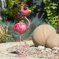 54.5cm Metal Flamingo Garden Lawn Ornament Bird Statue Figurine Sculpture Art