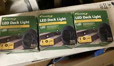 3 Malibu LED Deck Step Round Recessed Light Low Voltage BLACK NEW