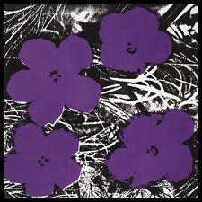 Andy Warhol Flowers 1965 Purple póster son impresiones artísticas con la estructura de aluminio negro 60x60cm