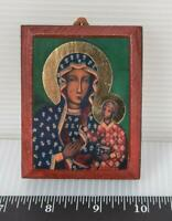 Vintage Religious Small Wall Hanging Jesus Mary g25