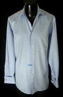 Ermenigildo Zegna French Cuff Shirt 15.5-34/35 W Genuine Zegna Cufflinks