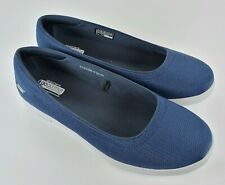 Skechers GO STEP Mesh Slip On Shoes Luxe, Navy Blue, Size 9 WIDE