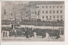 Vintage Postcard Funeral King Christian IX of Denmark Mourning Card
