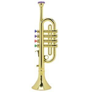 Children Trumpet Golden Coated Children Preschool Music Toy Gift Wind Instrument