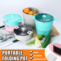 Electric Kettle Foldable Skillet Silicone Hot Pot Water Jug Travel Portable