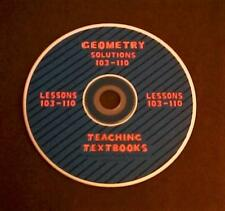 Teaching Textbooks Geometry Solutions 103-110 Replacement CD Version 1.0