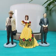 Franklin Mint 1990 Gone With The Wind Resin Figures Lot of 3