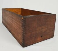 Antique Dovetail Oak Wood Box Storage Caddy Primitive Crate Planter Tote  21""