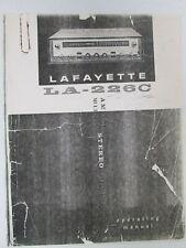 Lafayette LA-226C AM FM Stereo Receiver Multiplex Schematic Diagram