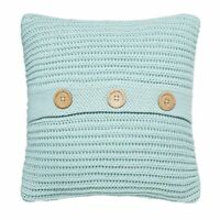 Catherine Lansfield Home Chunky Knit Cushion Cover, Duck Egg Blue, 45 x 45 Cm