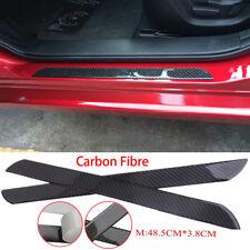 2x Carbon Fiber Universal Car Scuff Plate Door Sill Panel Step Protector Guard 6