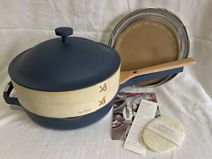 "Our Place Always - Blue Salt - 10"" Pan - Nonstick - Bamboo Steamer - New w/o box"