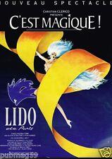 Publicité advertising 1994 Spectacle du Lido par René Gruau
