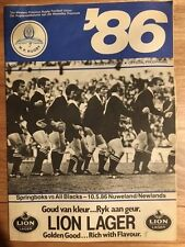 Rugby Programme - South Africa vs New Zealand 10/05/1986 (FREE DELIVERY)