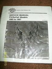 HARLEY  FXR FXRS FX Softail factory service manual EVO 80 1340 soft tai