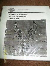HARLEY  FXR FXRS FX Softail factory service manual EVO 80 1340 soft tai