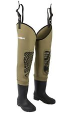 Snowbee Classic Neoprene THIGH waders Size 9 - with FREE wader bag (RRP £79.99)