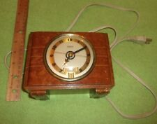 Antique Hammond Clock & Calendar Art Deco Decor Display Tested Wooden