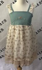 NEW Girls WDW Well Dressed Wolf blue Cameron dress Size 7 years NWT