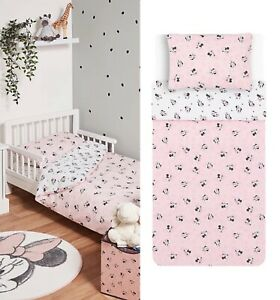 Disney Minnie Mouse Kids Toddler Cot Bed Duvet Cover Set