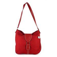 THE SAK Hobo Shoulder Bag Red Fabric Everyday Fashion Handbag Casual Purse