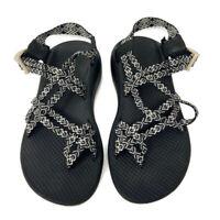 🔴  Chaco Z Cloud X2 Webb Angora Sandal Women's Size 8 Black White Comfort Strap