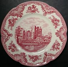 """JOHNSON BROTHERS china OLD BRITAIN CASTLES pink crown stamp DINNER PLATE 9-7/8"""""""