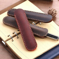 Handmade Genuine Leather Pencil Bag Stationery Durable Pen Case Retro Pen B NT