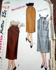 *LOVELY VTG 1950s SKIRT Sewing Pattern Waist 26