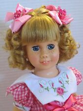 CHATTY CATHY Blonde Pigtail PINK GINGHAM DRESS TALKS FREE SHIPPING