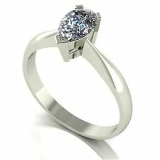 Charles & Colvard White Gold Solitaire Fine Rings