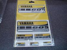 foglio 6 decalco stickers adesivi resinati originali Yamaha 60th Anniversary