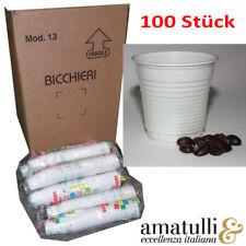100 Espressobecher 8cl Einweg Becher 80ml Espresso Espressotasse Plastikbecher