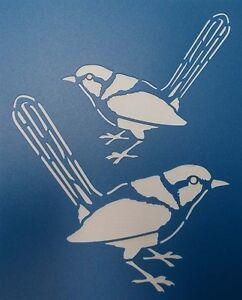Scrapbooking - STENCILS TEMPLATES MASKS SHEET - Blue Wren Stencil
