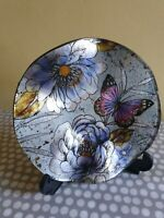 Shudehill Trinket Dish With Fluted Edge. Butterfly And Floral Decoration