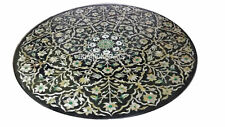"36"" Marble coffee Table Top Mother Of Pearl Mosaic Marquetry Inlaid Home Decor"