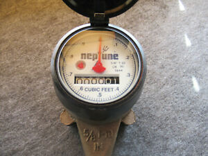 "2 Neptune T10 5/8"" Brass Water Meters, Cubic Feet Pack of 2"