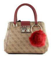 GUESS Logo Luxe Small Society Handtasche Umhängetasche Tasche Brown Braun Neu