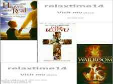 3 DVD PACK-Heaven is for Real-Do You Believe?- War Room
