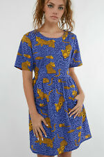Dangerfield  Youve Been Spotted Dress in Blue