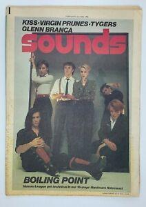 Sounds Music Magazine 13 February 1982 Kiss Virgin Prunes Tygers Glenn Branca