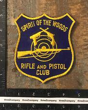 Vtg Spirit Of The Woods Rifle & Pistol Club Michigan Gun Patch