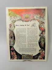 Keen's English Chop House Restaurant in New York 1950s Paper Menu Historical