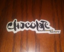 CHOCOLATE SKATEBOARD CO. VINTAGE THE SKATEBOARD FACTORY LOGO SKATEBOARD STICKER