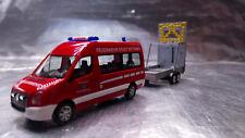 * Herpa 093255 VW Crafter Bus HD with Safety Traffic Trailer Feuerwehr Nittenau